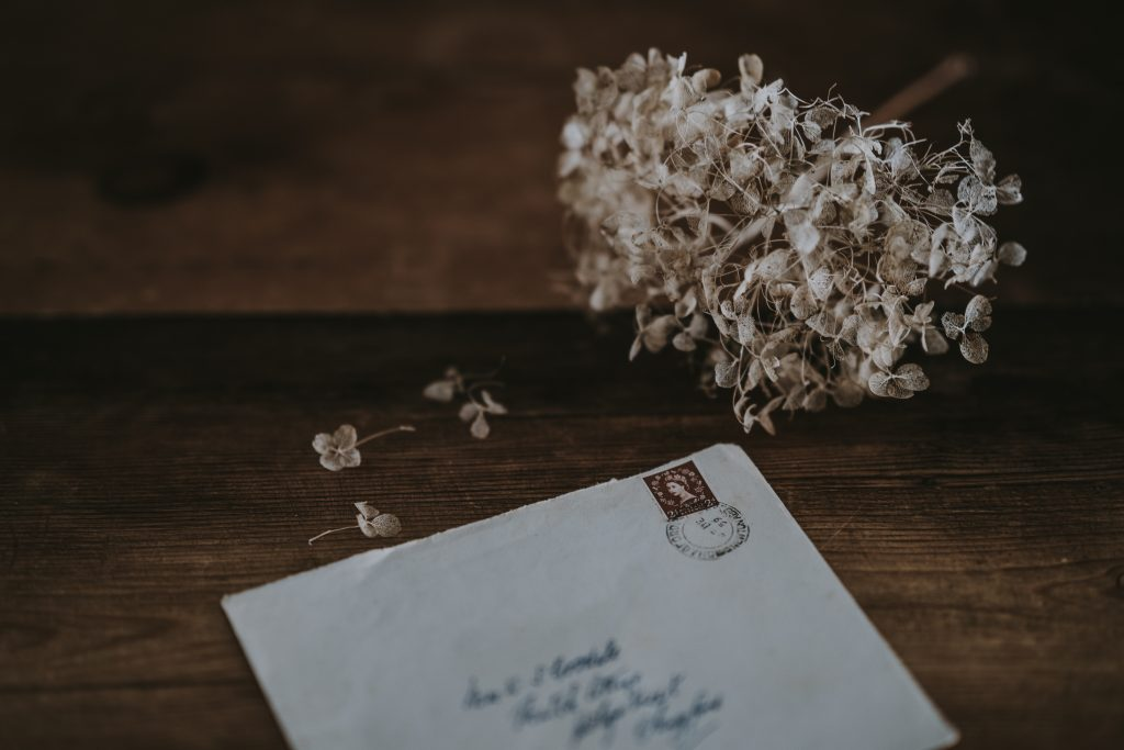 Waldorf family write to grandparents on notepaper, writing paper.